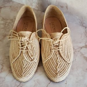 Artemis kilim woven naturall color laces shoes 7